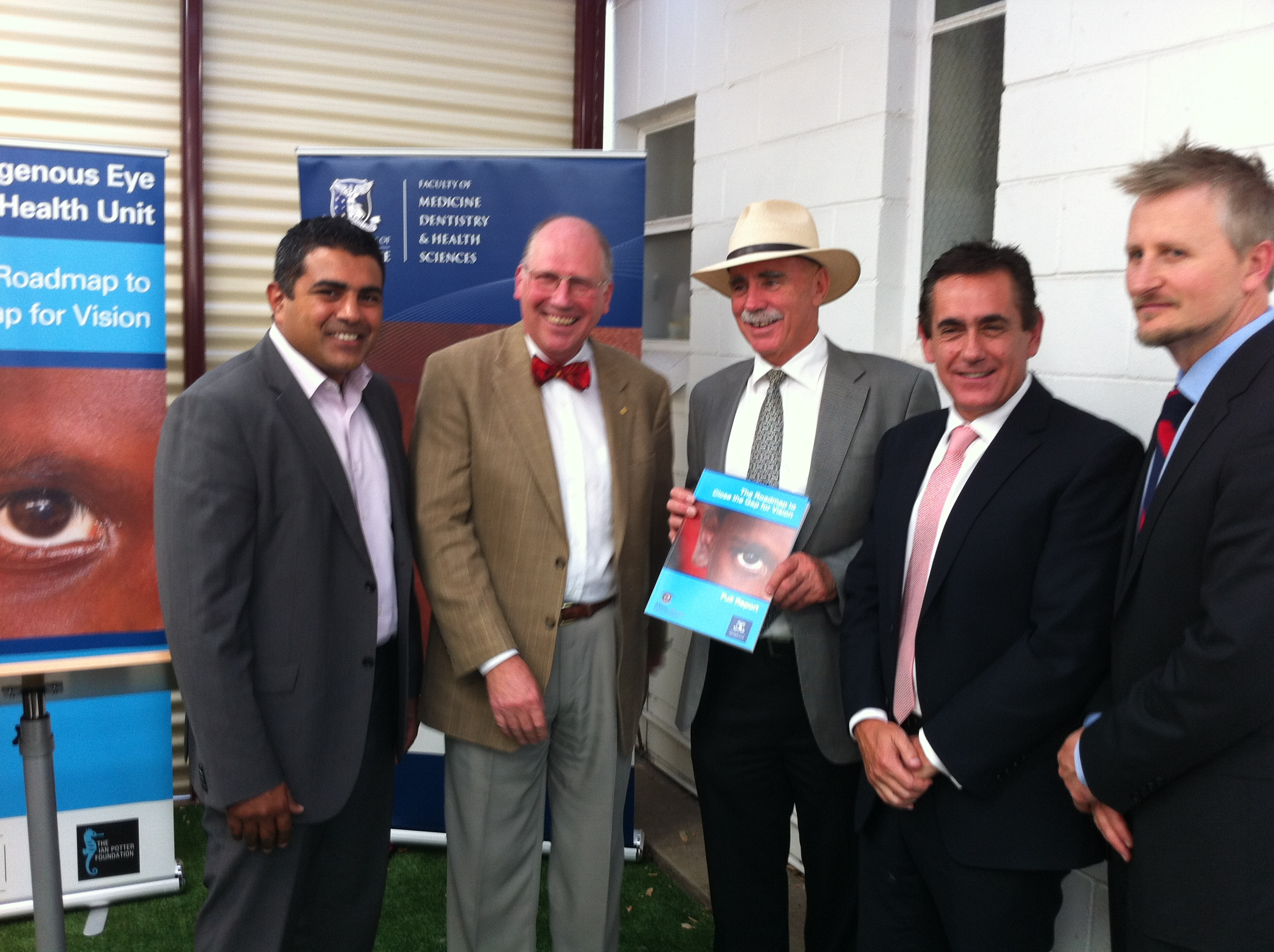 NACCHO Chair Justin Mohammed, Professor Hugh Taylor, The Hon Warren Snowdon MP and Demons officials.