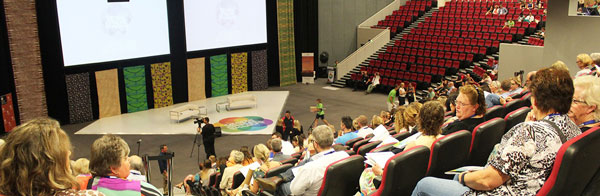 Darwin Convention Centre auditorium filling up with delegates ahead of opening ceremony