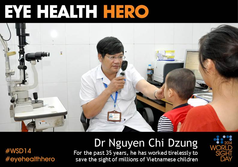 Eye Health Hero Dr Dzung with a patient