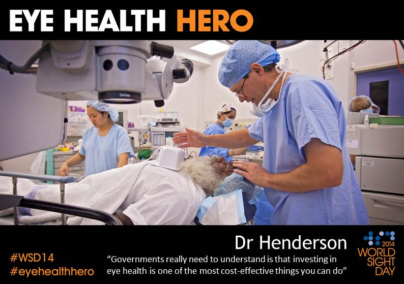 Dr Tim Henderson Eye Health Hero