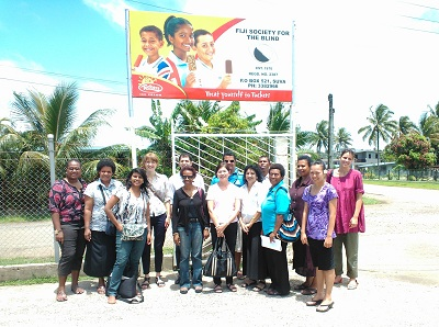 Group visit to Fiji School for the Blind in Suva_Pacific Workshop 2012
