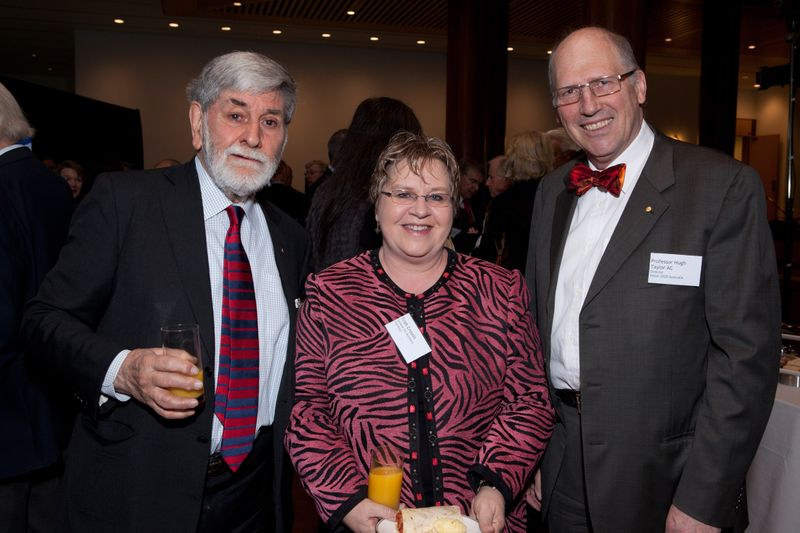 Prof Hugh Taylor and Senator Trish Crossin with Barry Jones
