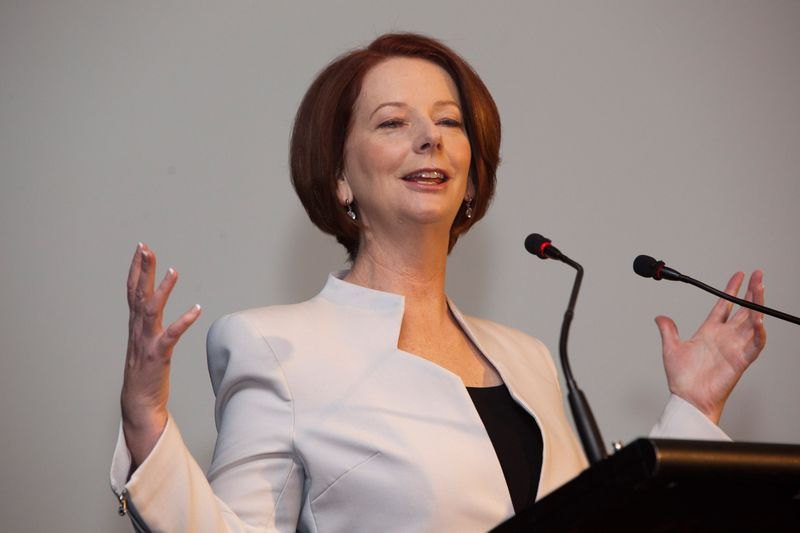 Prime Minister Julia Gillard gives a birthday speech for Barry Jones