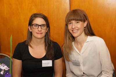 Courtney Saville and Naomi Thomson from Vision 2020 Australia at the Pacific Workshop