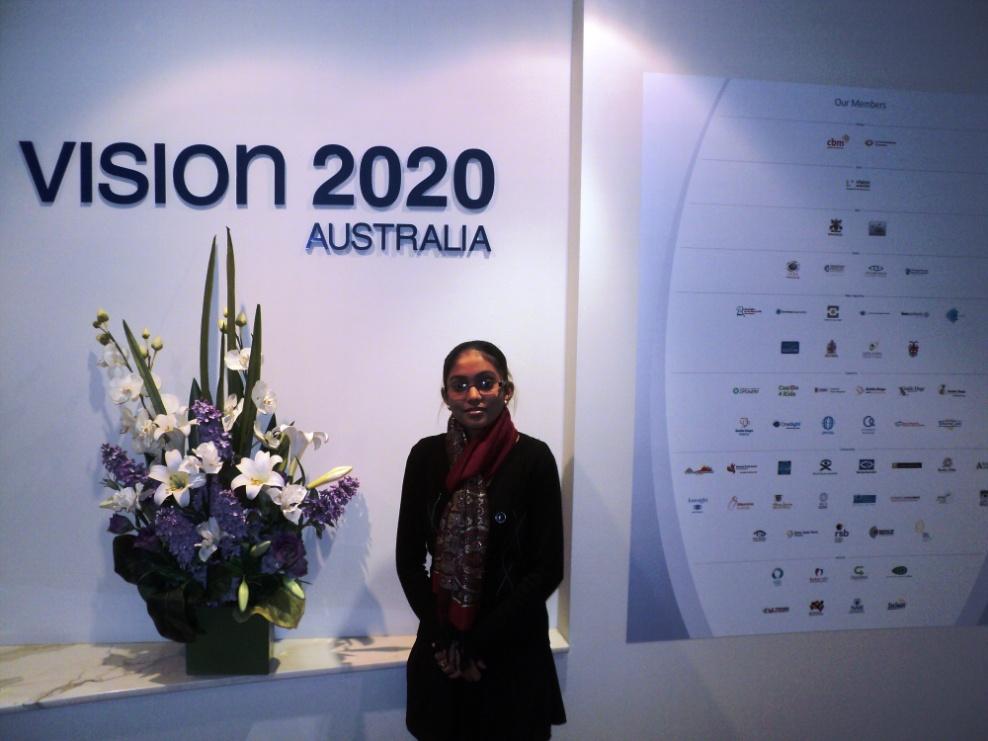 Nileshni Devi's Vision 2020 Australia internship experience