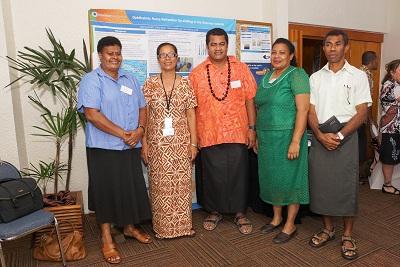 Vilisi Salavabisi, Mereoni Daveta, Sagato Vaoliko, Maraia Matakibau and Eremasi Sunkanaisoro at the Pacific Workshop 2012