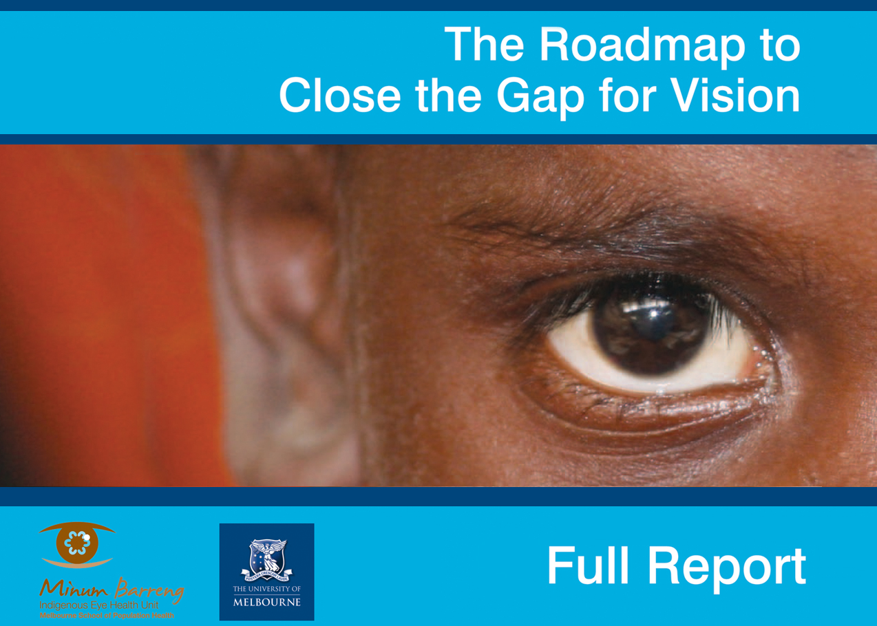 Image from the front of the Closing the Gap for Vision report