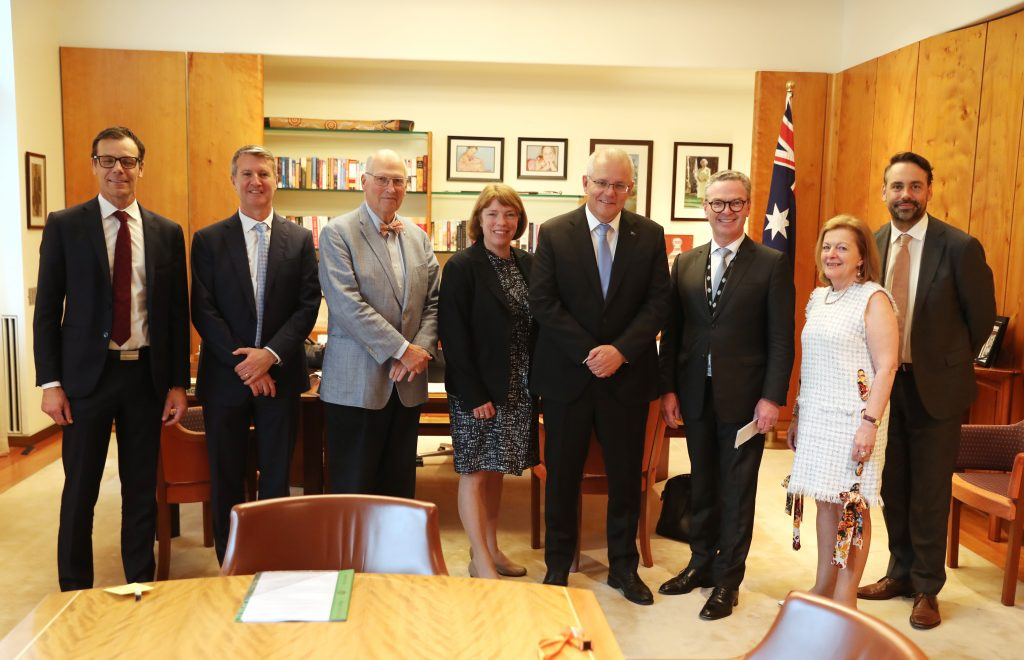 Sector representatives with Scott Morrison